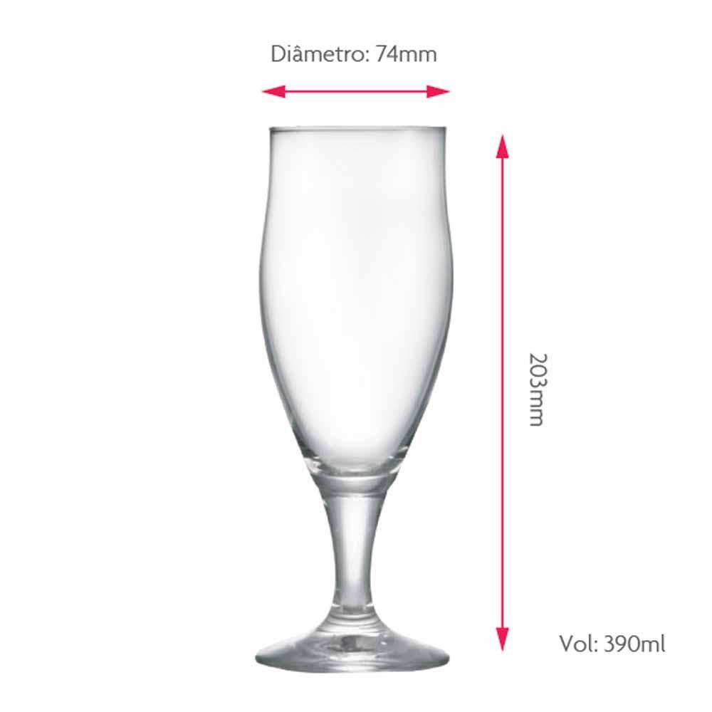 Taça de Cerveja de Cristal Dortmund 390ml 6 Pcs