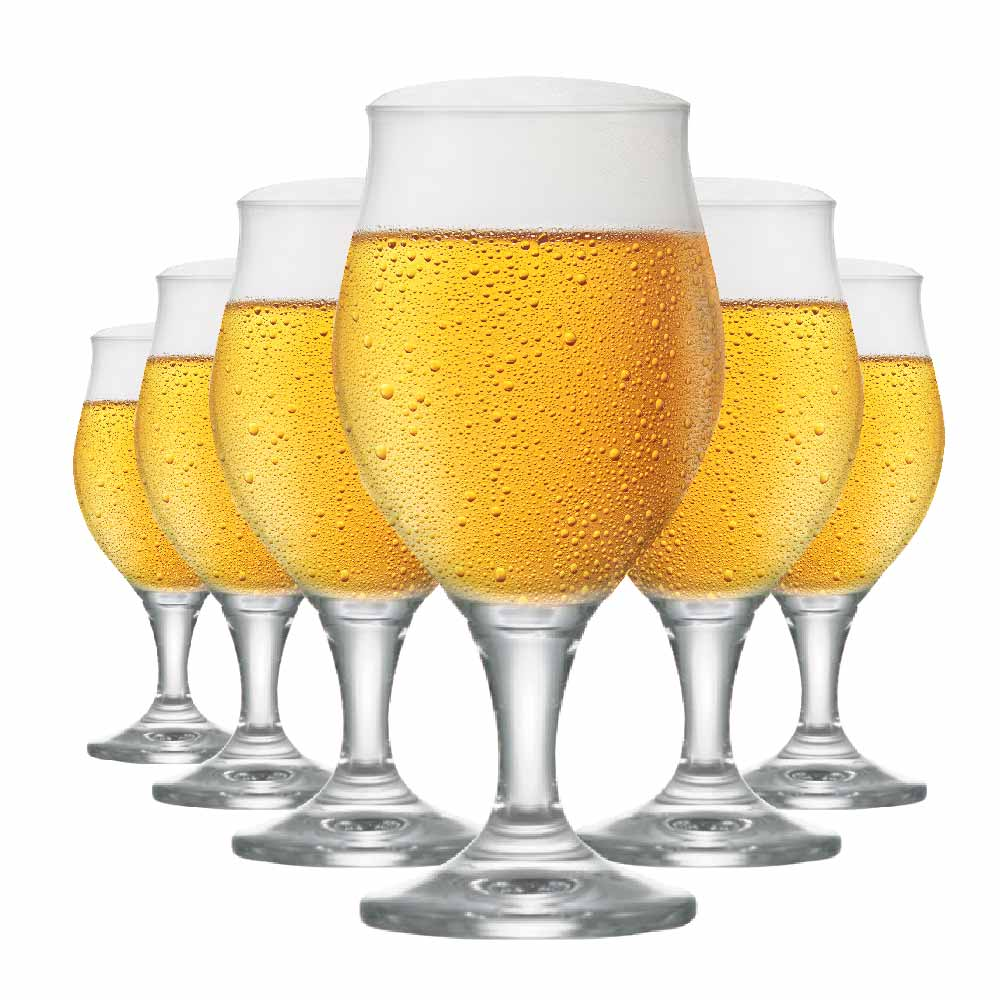 Taça de Cerveja de Cristal Elsab 340ml 6 Pcs