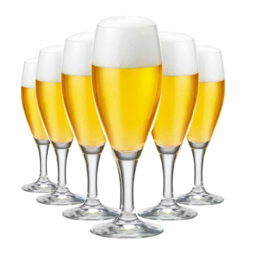 Jogo de Taças Cerveja Gourmet P Cristal 320ml 6 Pcs