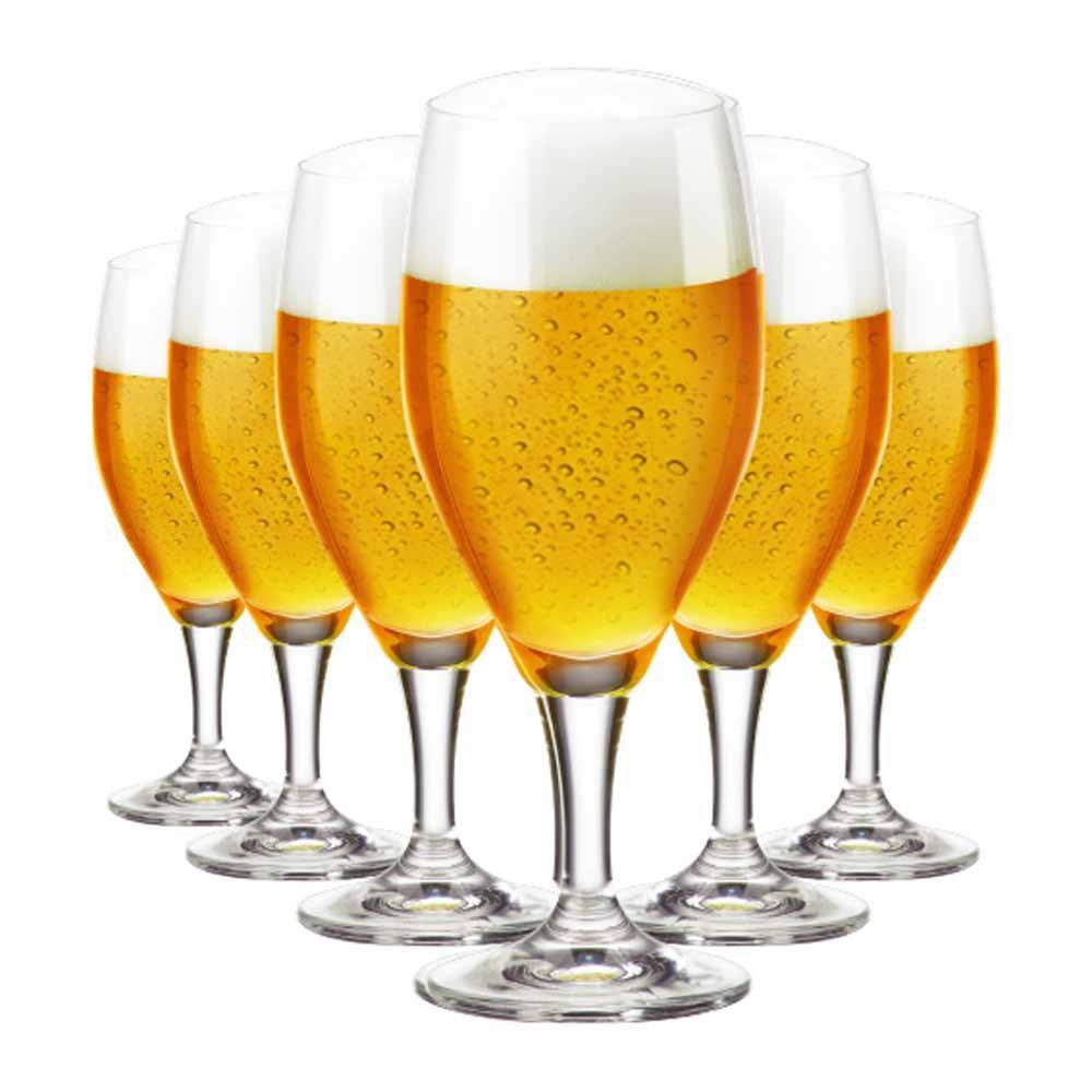 Jogo de Taças Cerveja Holsten Cristal 400ml 6 Pcs