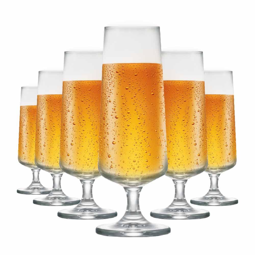Taça de Cerveja de Cristal Leed 365ml 6 Pcs