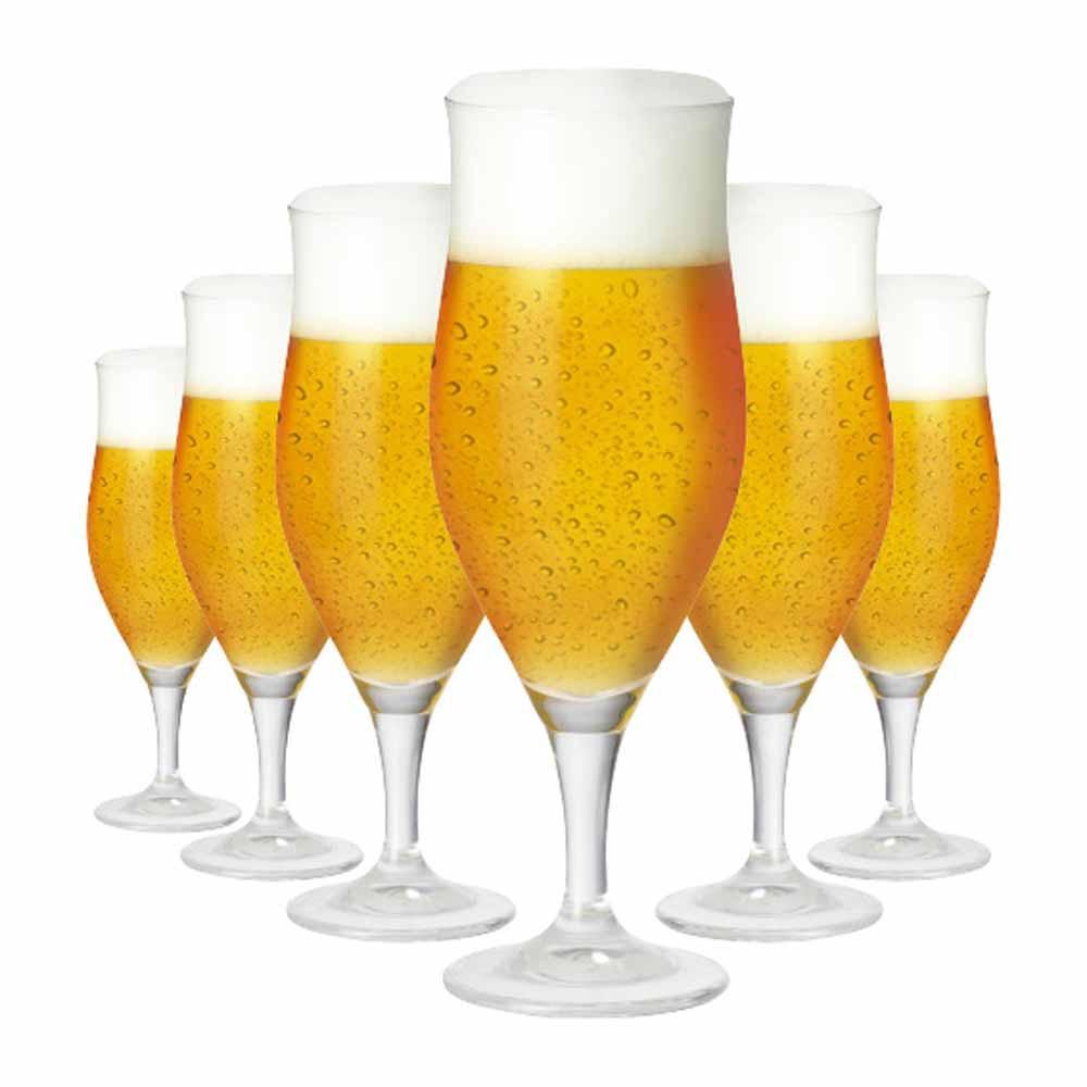 Jogo de Taças Cerveja Lubzer GG Cristal 515ml 6 Pcs