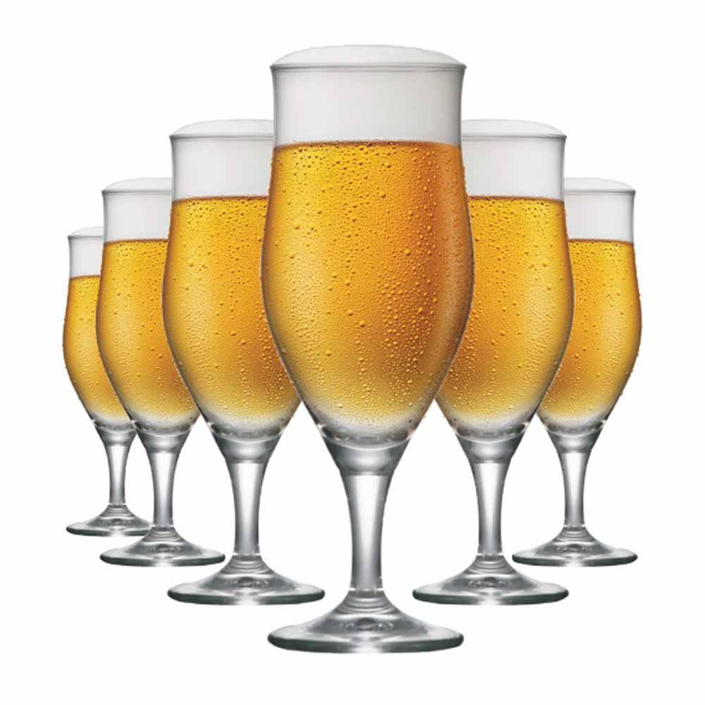 Taça de Cerveja de Cristal Lubzer P 260ml 6 Pcs