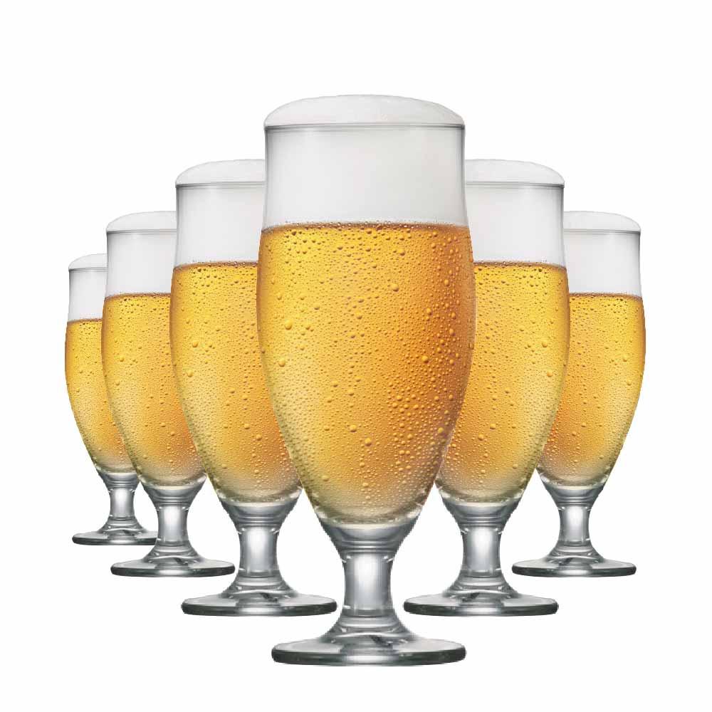 Taça de Cerveja de Cristal Paris M 385ml 6 Pcs