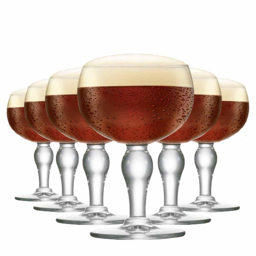 Jogo de Taças Cerveja Rochefort Cristal 445ml 6 Pcs