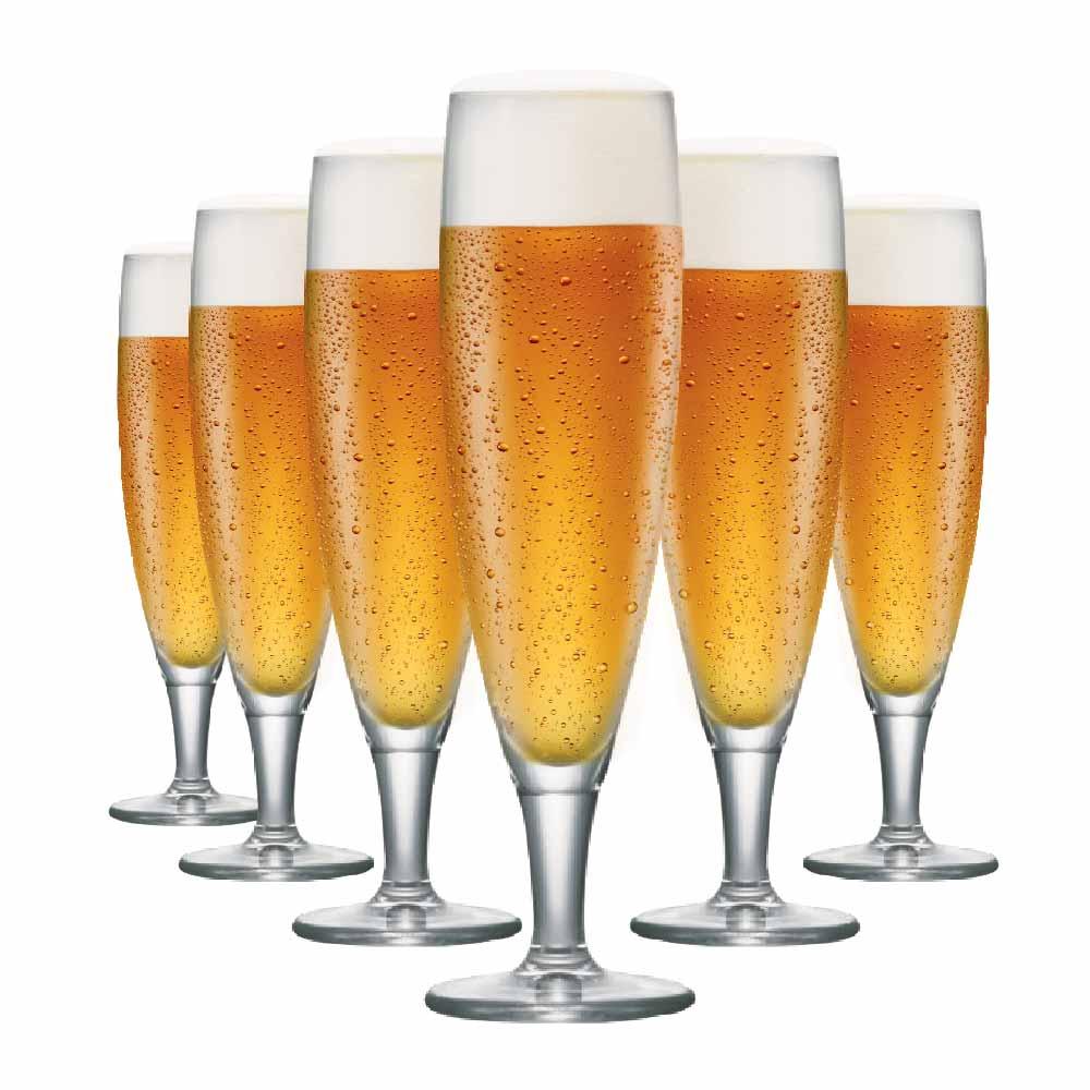 Taça de Cerveja de Cristal Sokata M 325ml 6 Pcs