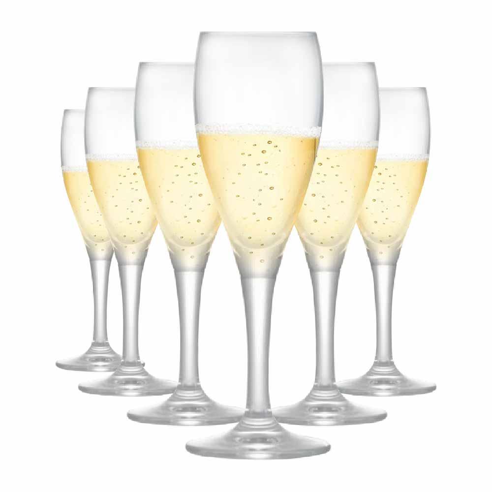 Taça de Champagne de Cristal Arcadia 155ml 6 Pcs