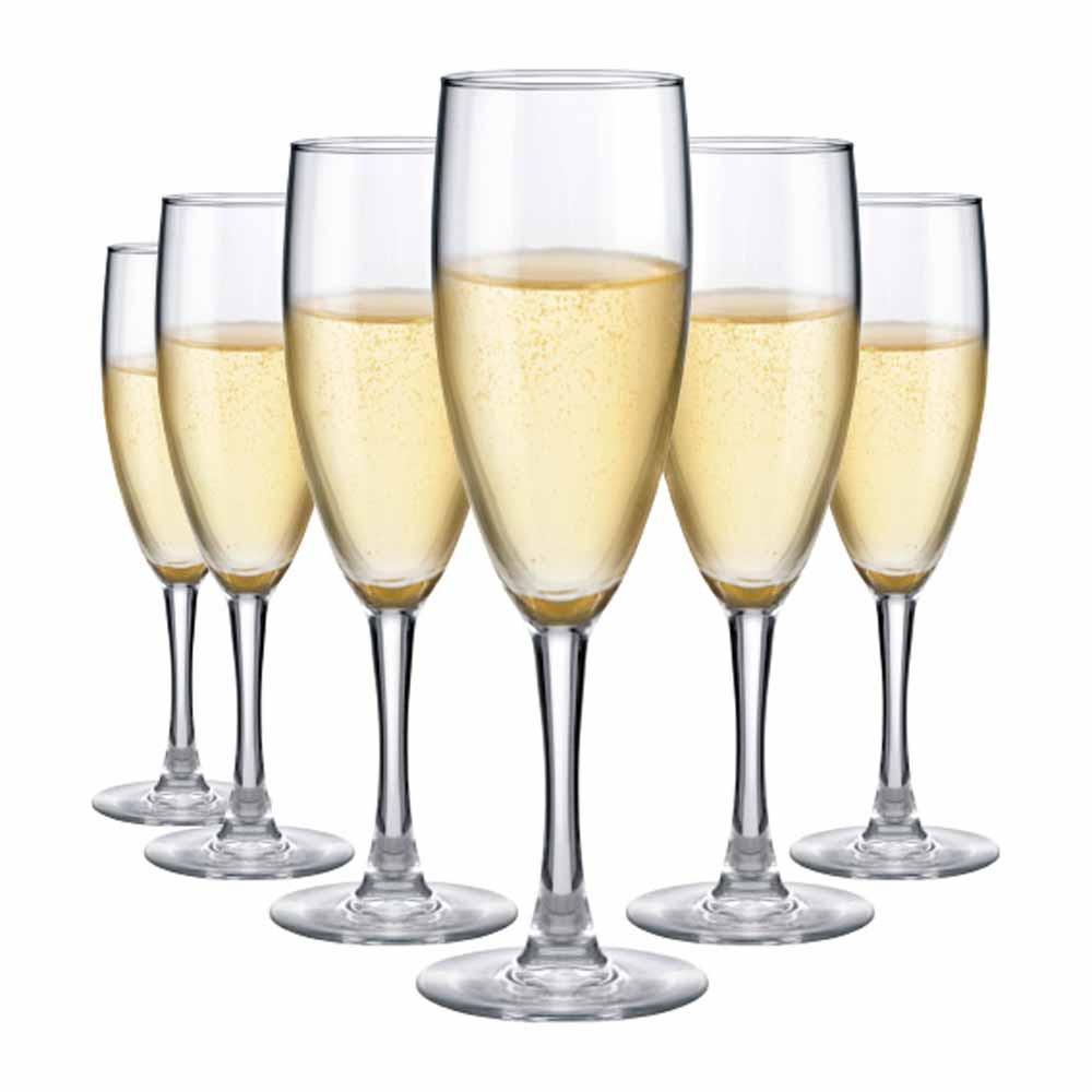 Jogo de Taças Champagne Bourbon Temp. Vidro 150ml 6 Pcs