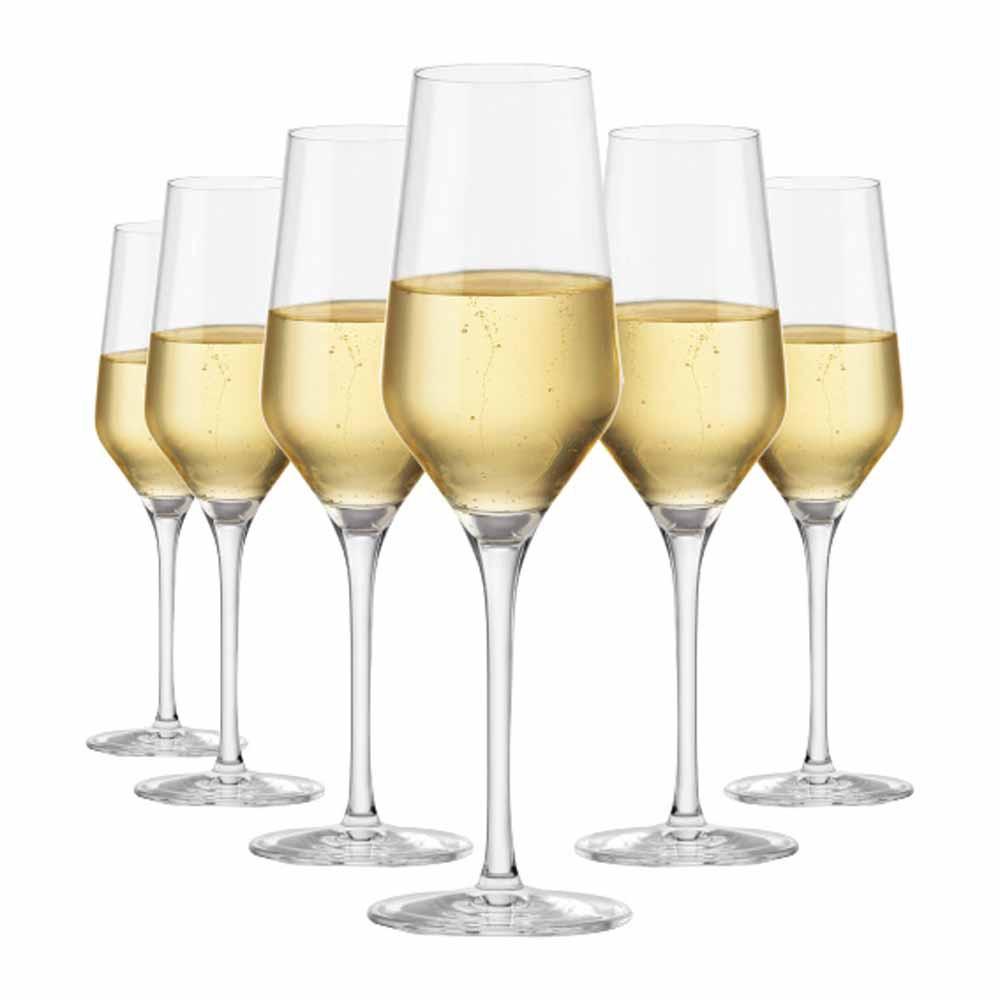 Jogo de Taças Champagne Passion Cristal 240ml 6 Pcs
