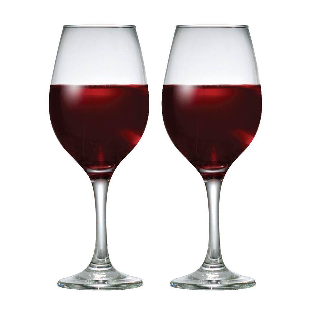 Taça de Vinho Tinto de Vidro One 385ml 2 Pcs