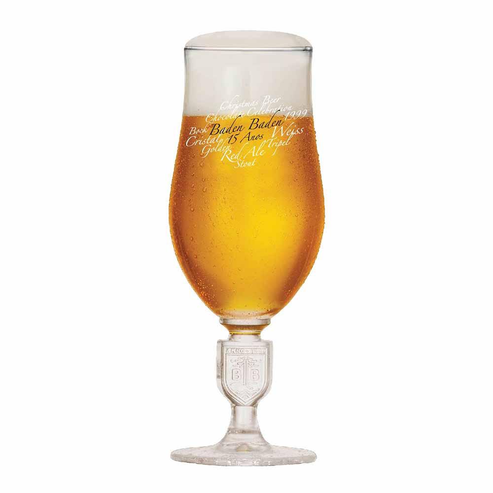 Jogo de Taças de Cerveja Baden Baden 15 Anos Cristal 360ml 2 Pcs