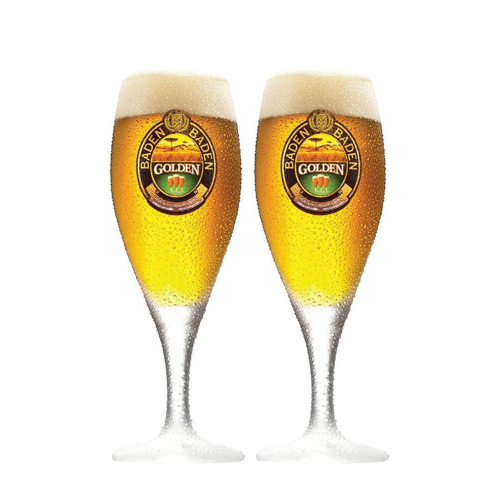 Jogo de Taças de Cerveja Baden Baden Golden 320ml 2 Pcs