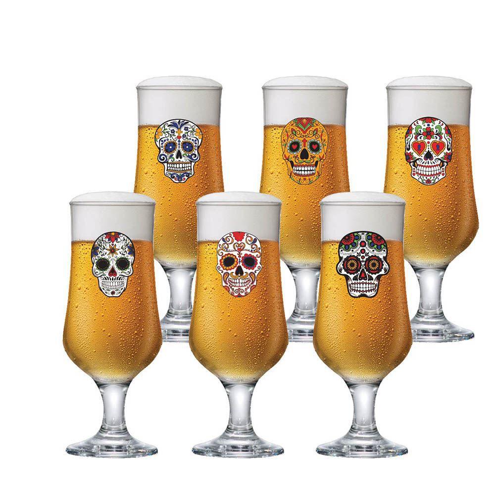 Jogo de Taças de Cerveja Barcelona Mexican Vidro 370ml 6 Pcs