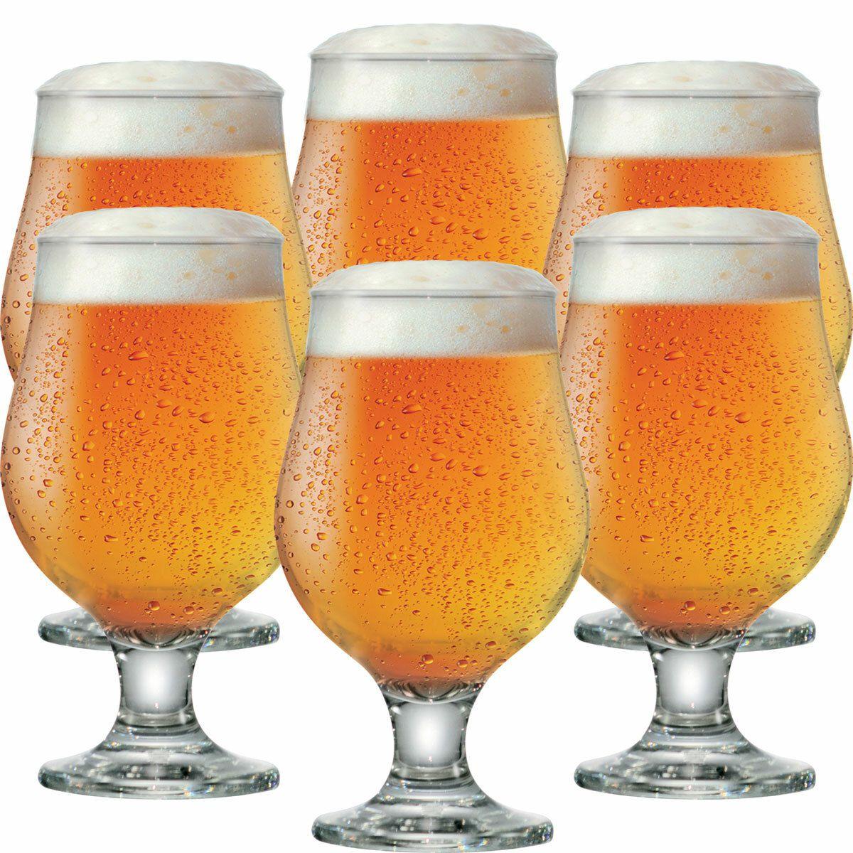 Taça de Cerveja de Vidro Beer Master 380ml 6 Pcs