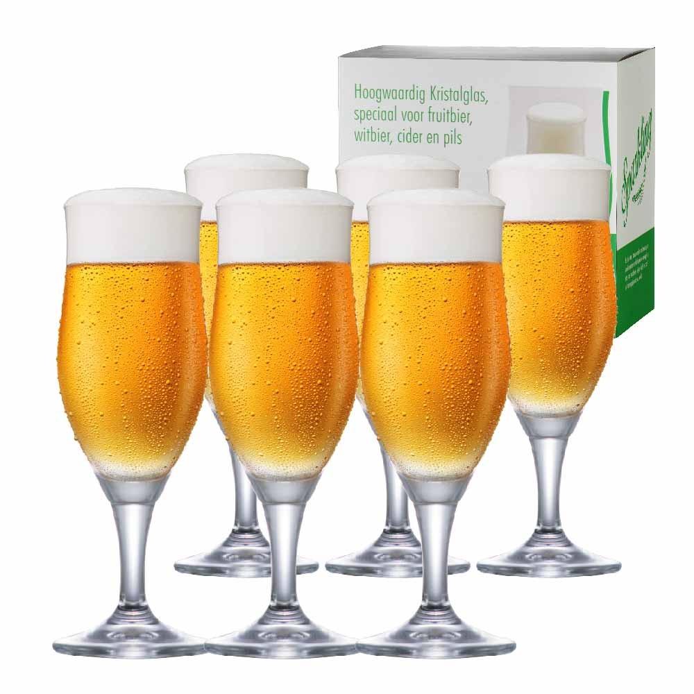 Taça de Cerveja de Cristal Sparkling M 390ml Conjunto 6 Pcs