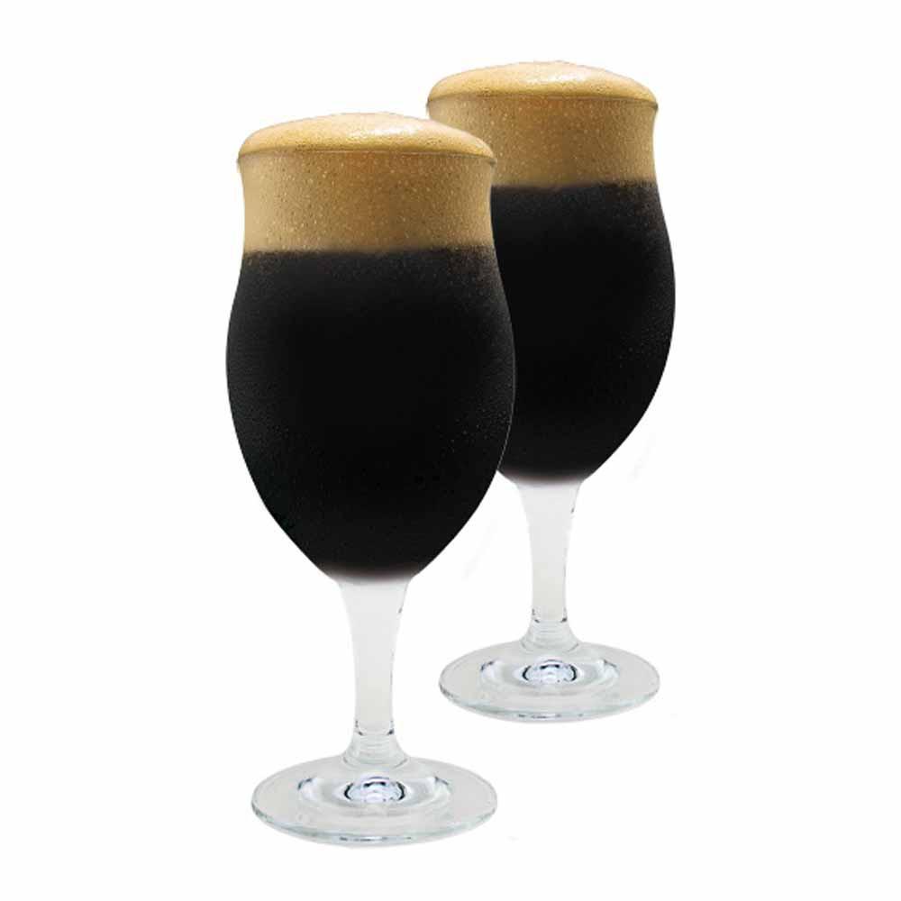 Taça de Cerveja de Cristal Dark Bier 440ml 2 Pcs