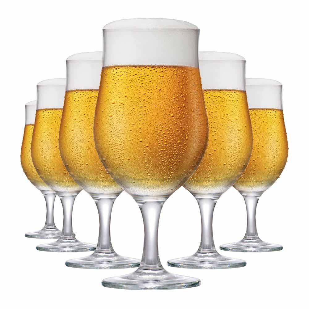 Taça de Cerveja de Vidro Berlin 330ml 6 Pcs