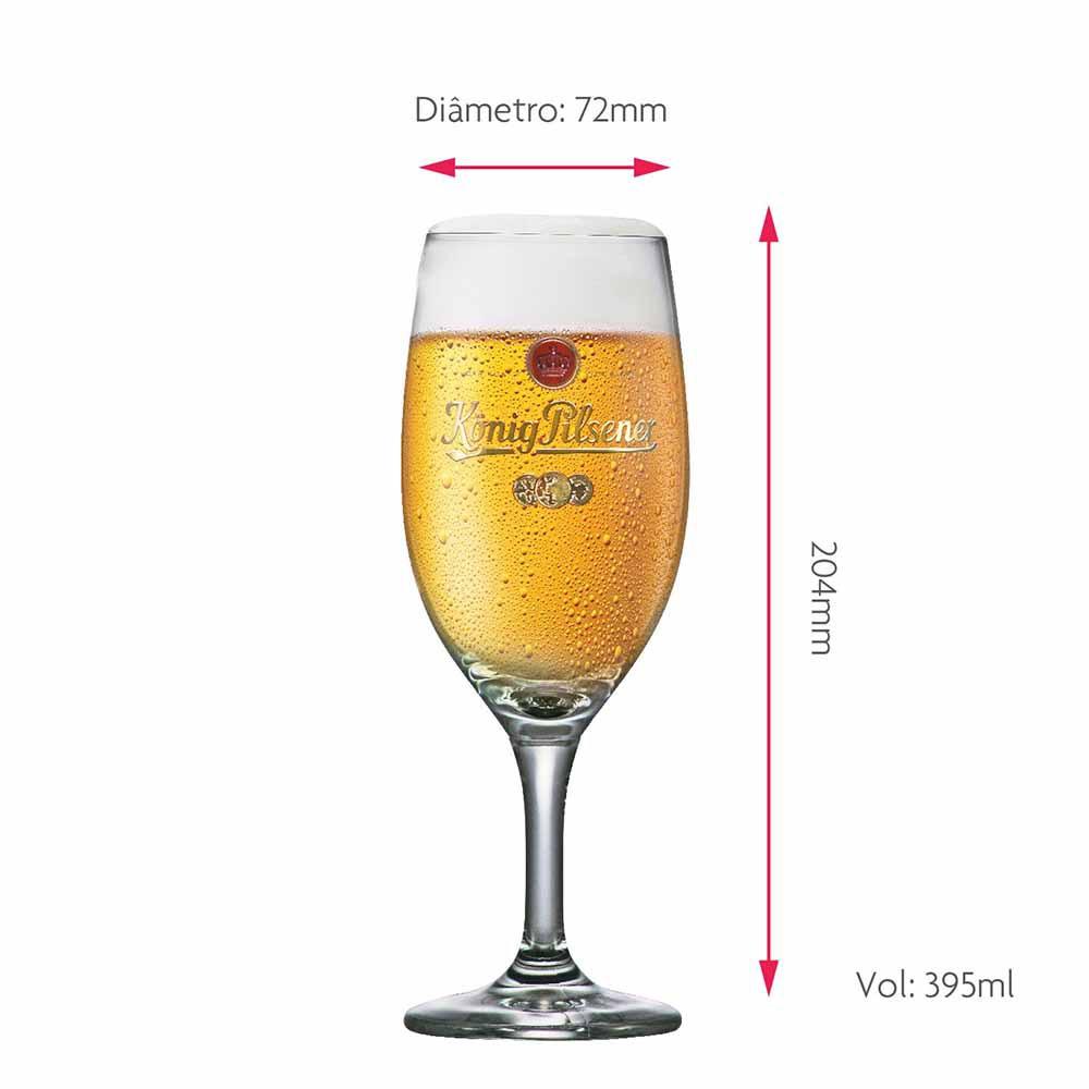 Jogo de Taças de Cerveja Frase Konig Exclusive Cristal 395ml