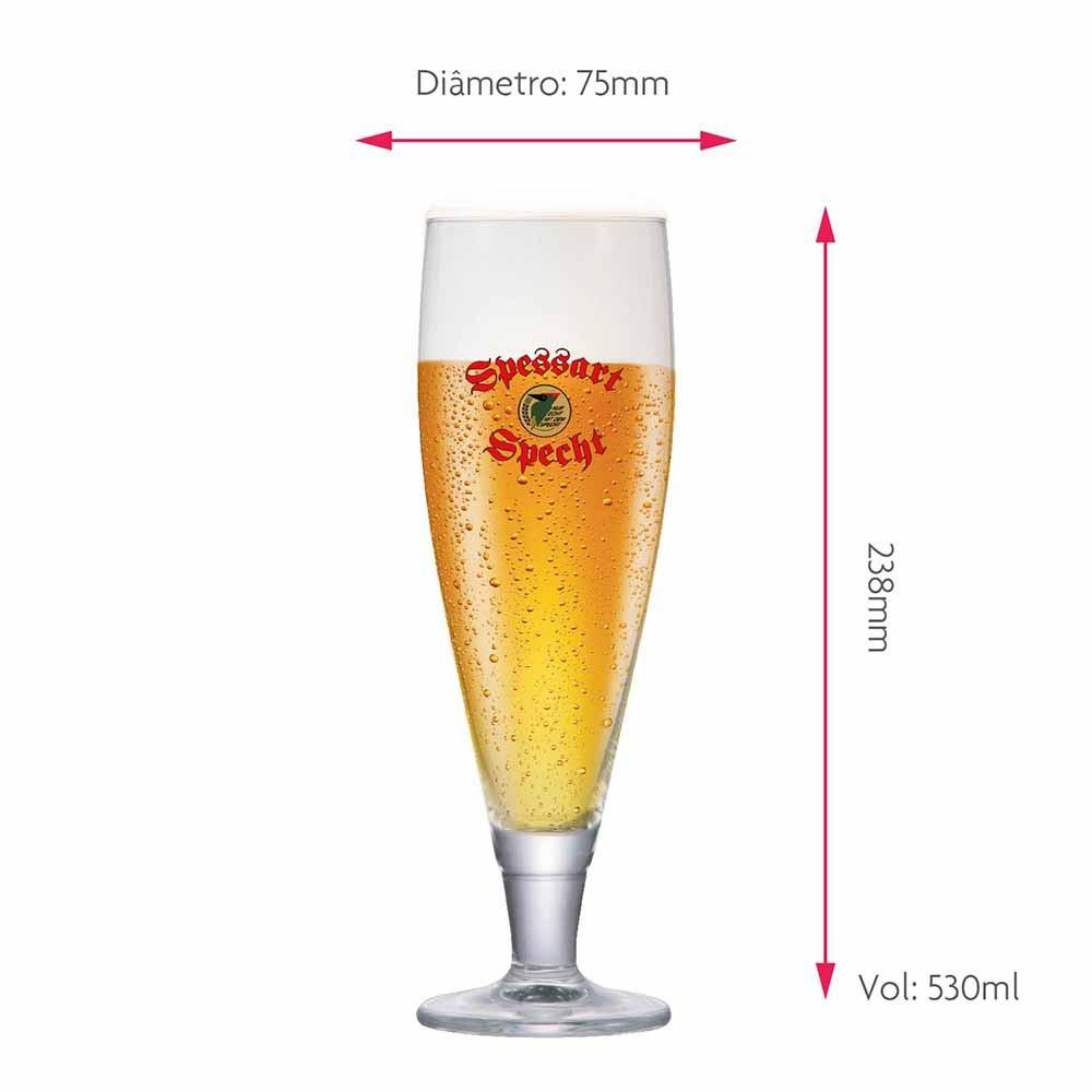 Jogo de Taças de Cerveja Frase Spessart Specht Cristal 530ml
