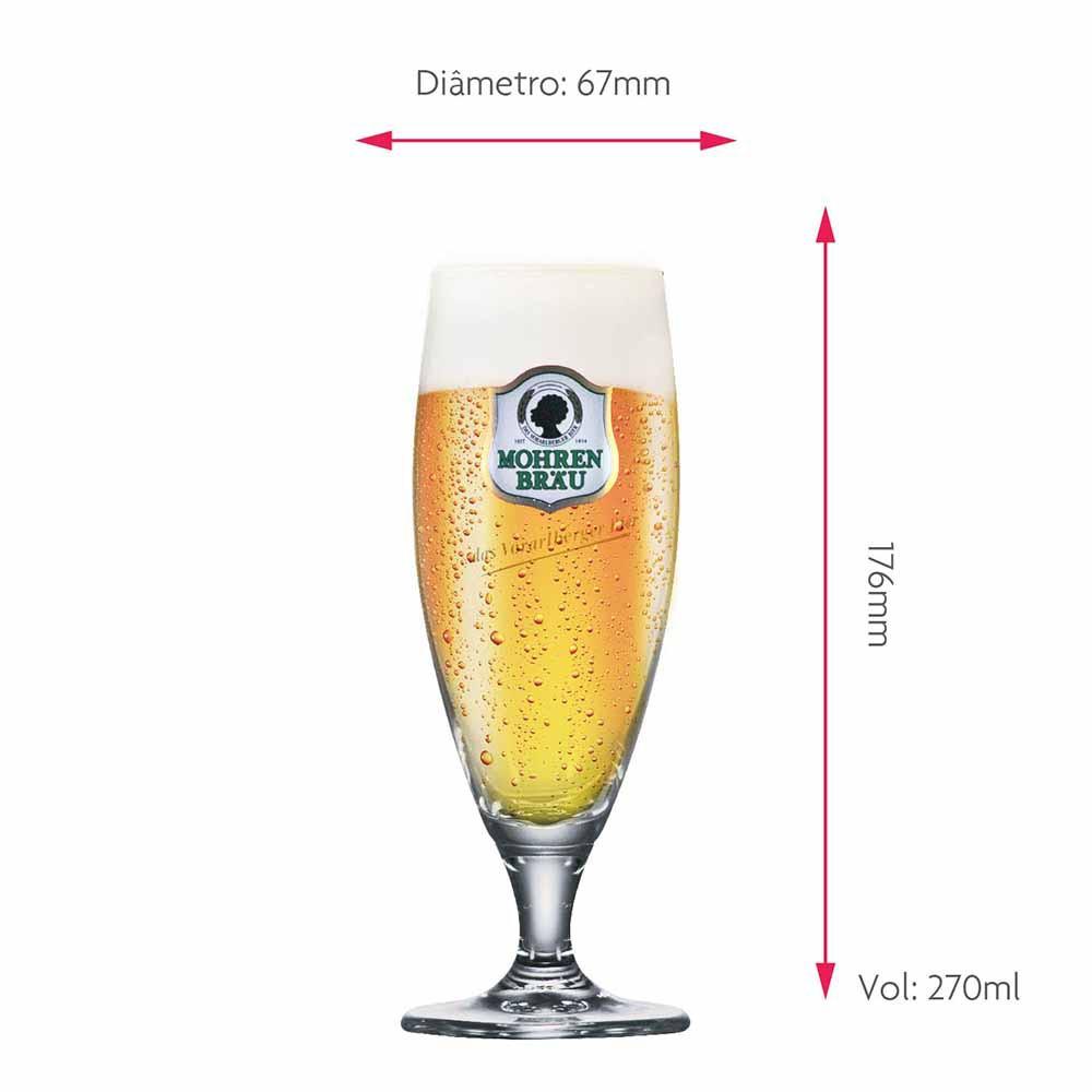 Jogo de Taças de Cerveja Frases Prestige Mohre Cristal 270ml