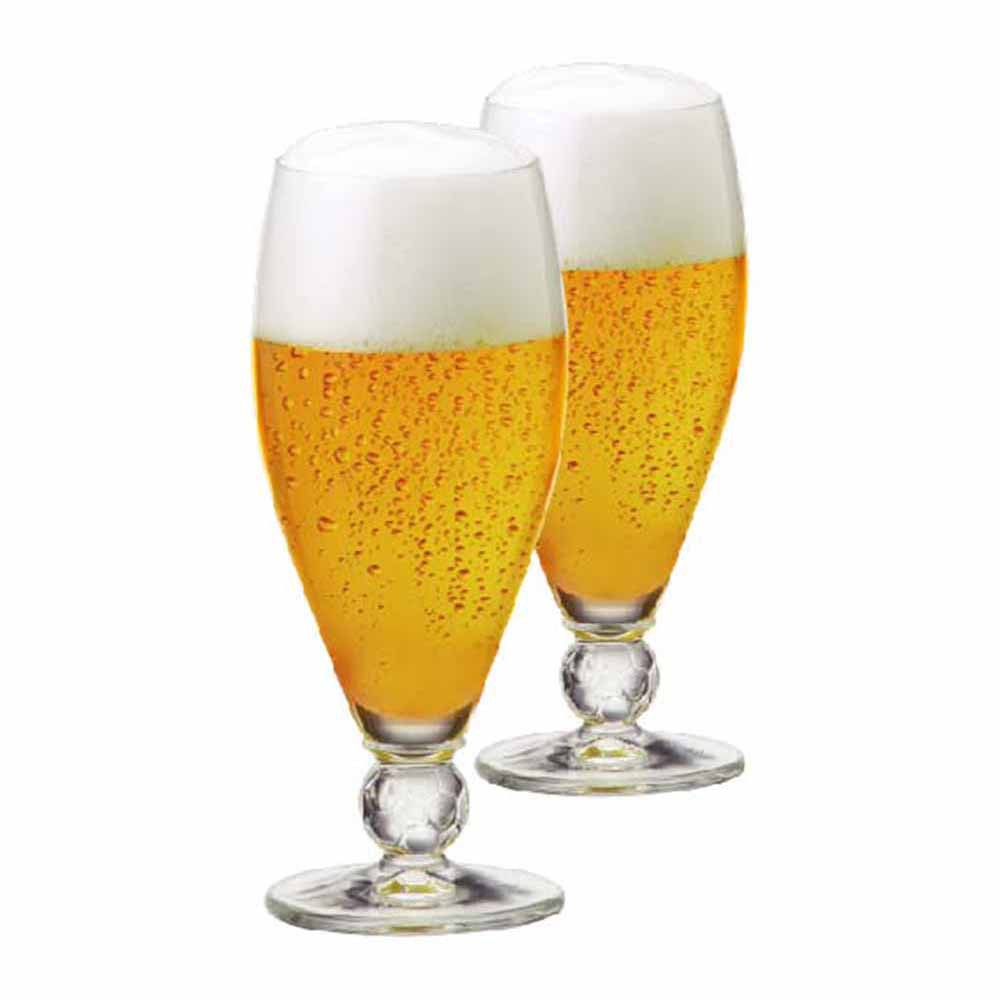 Jogo de Taças de Cerveja Futebol Cristal 395ml 2 Pcs