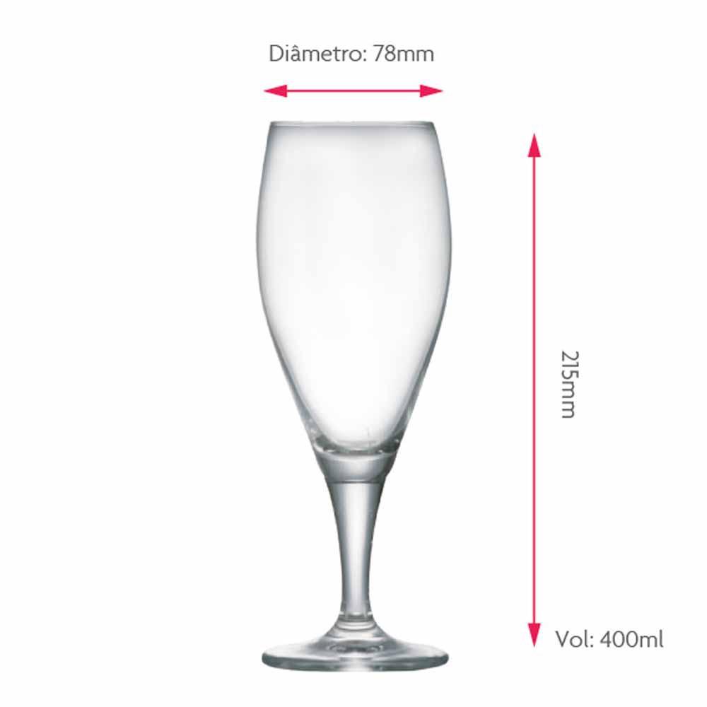 Taça de Cerveja de Cristal Gourmet M 400ml 2 Pcs