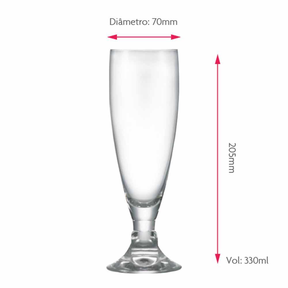 Taça de Cerveja de Cristal Heroldik 330ml 2 Pcs