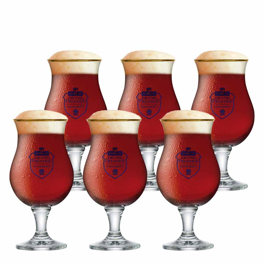 Jogo de Taças de Cerveja Hertog Jan Mater Vidro 410ml
