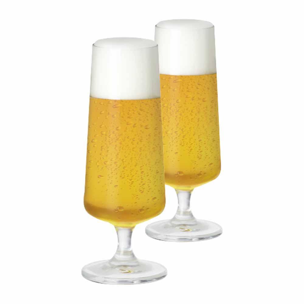 Taça de Cerveja de Cristal Leed 365ml 2 Pcs