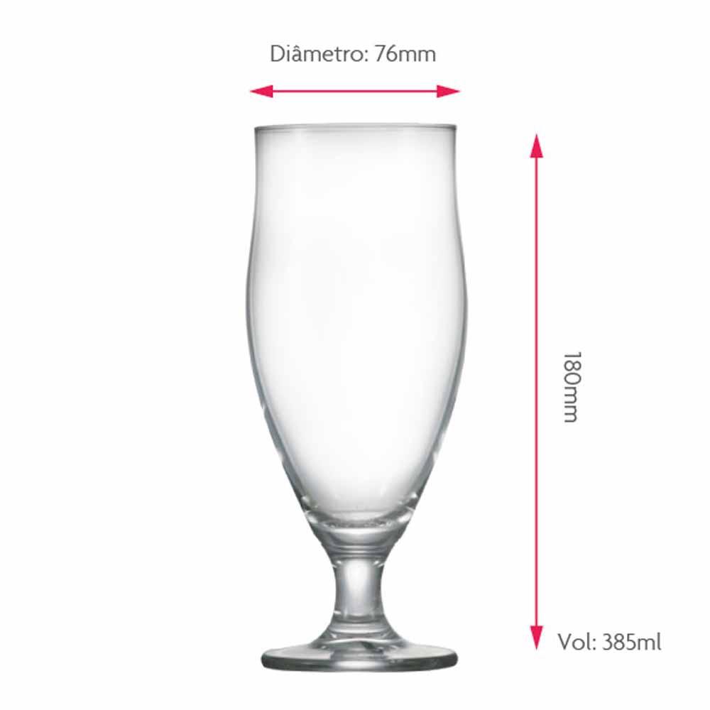 Taça de Cerveja de Cristal Paris M 385ml 2 Pcs