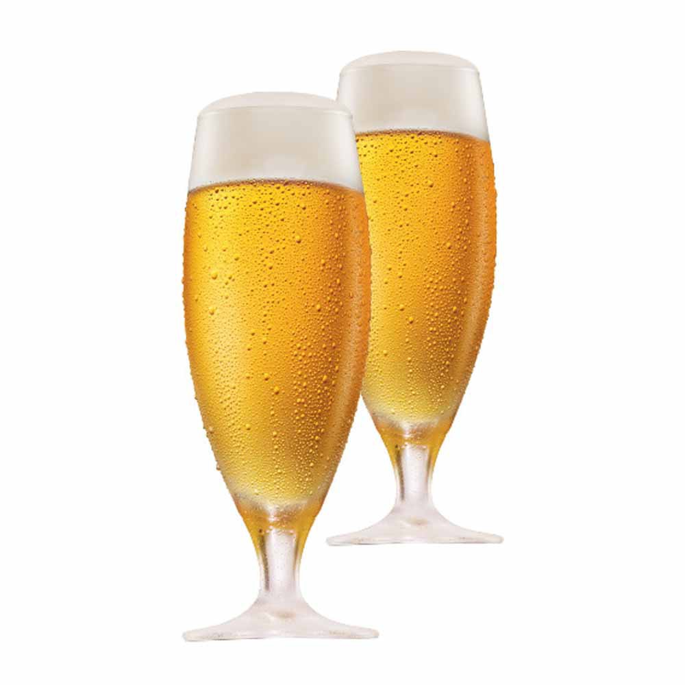 Taça de Cerveja de Cristal Pils 380ml 2 Pcs