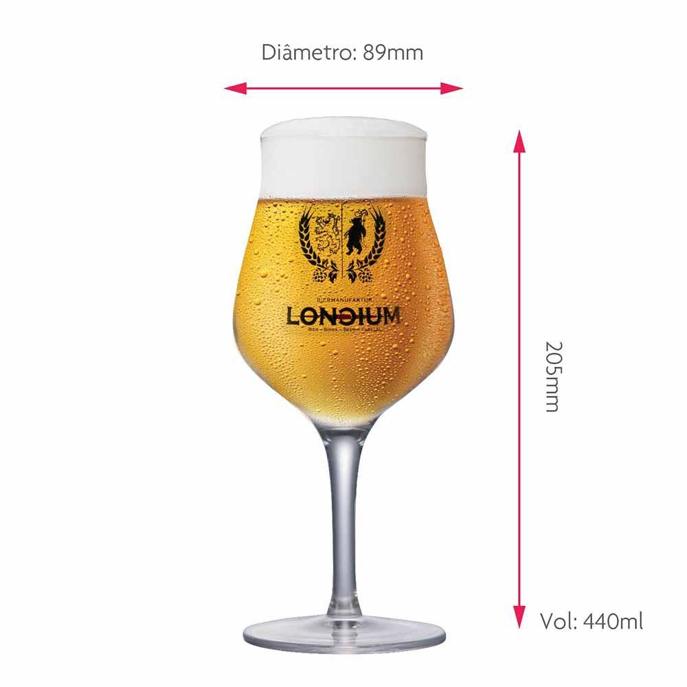 Jogo de Taças de Cerveja Rótulo Frases Loncium Cristal 440ml