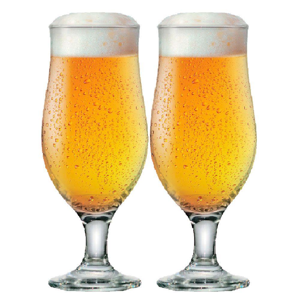 Taça de Cerveja de Vidro Royal Beer Vidro 330ml 2 Pcs