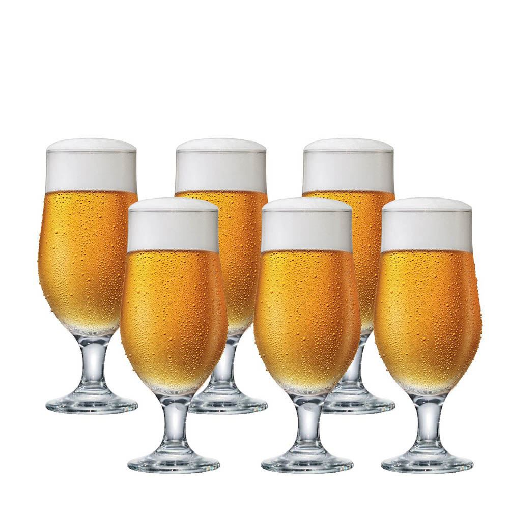 Jogo de Taças Cerveja Royal Beer Vidro 330ml 6 Pcs