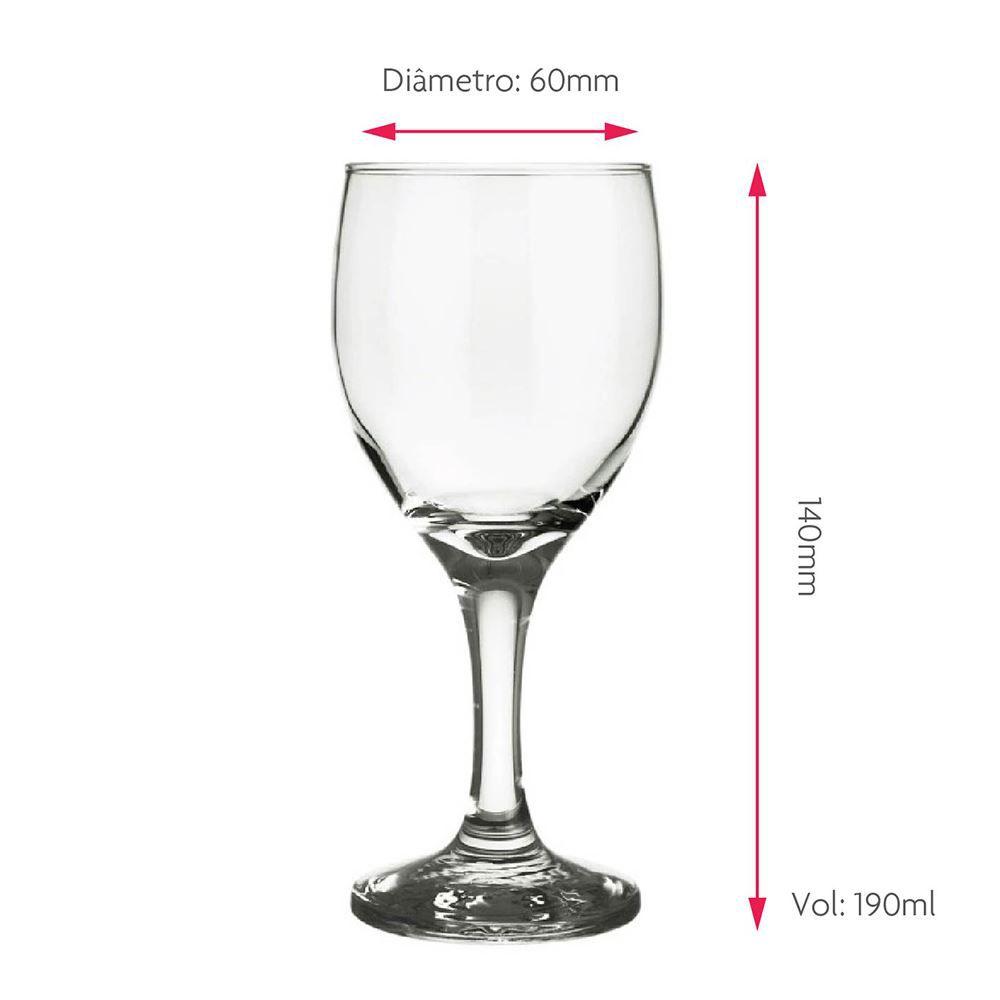 Jogo de Taças de Vinho ou Água de Vidro QE Ruvolo