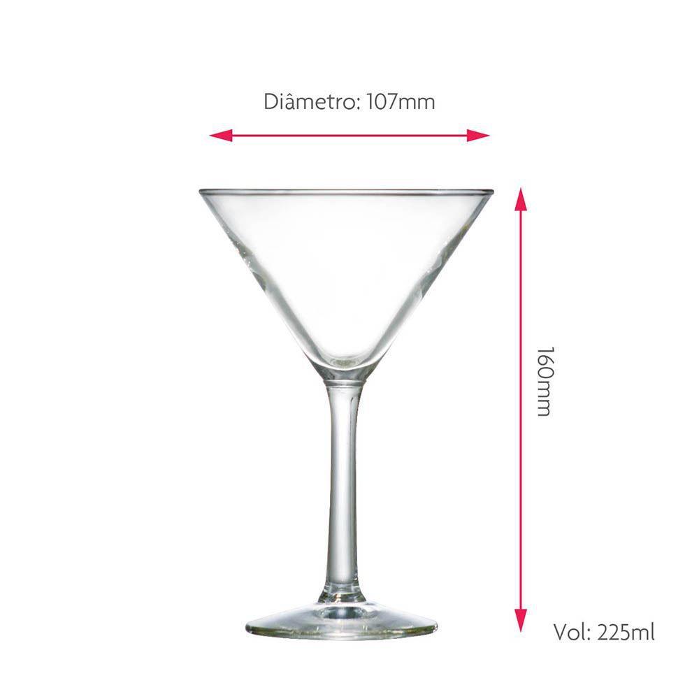 Jogo de Taças Martini Martini Vidro 225ml 6 Pcs