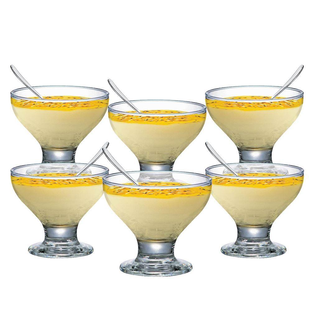Jogo de Taças de Sobremesa Vidro Ruvolo New Paradise 12 Pcs