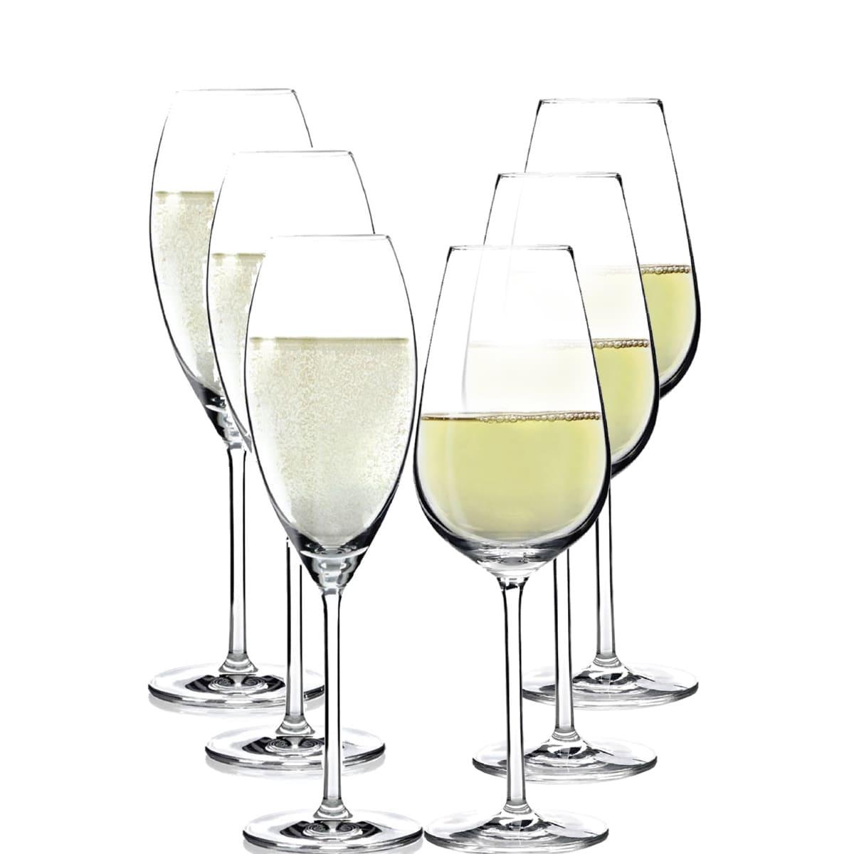 Jogo de Taças de Vinho Branco e Champanhe 6 Peças Ritzenhoff