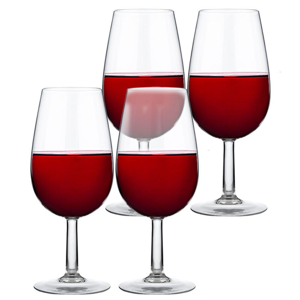Jogo de Taças de Vinho Iso Degustação Bourbon 230ml 4 Pcs