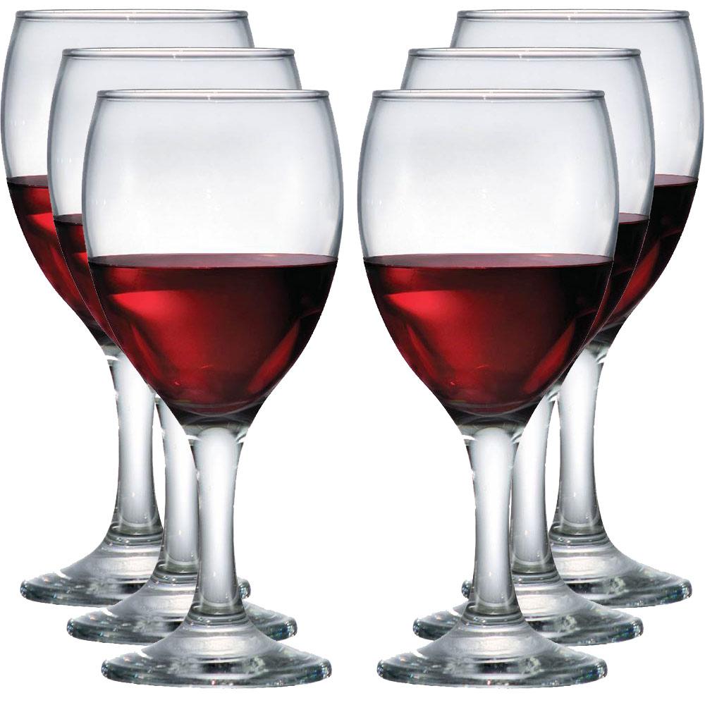 Jogo de Taças de Vinho Roma Vidro 300ml 6 Pcs