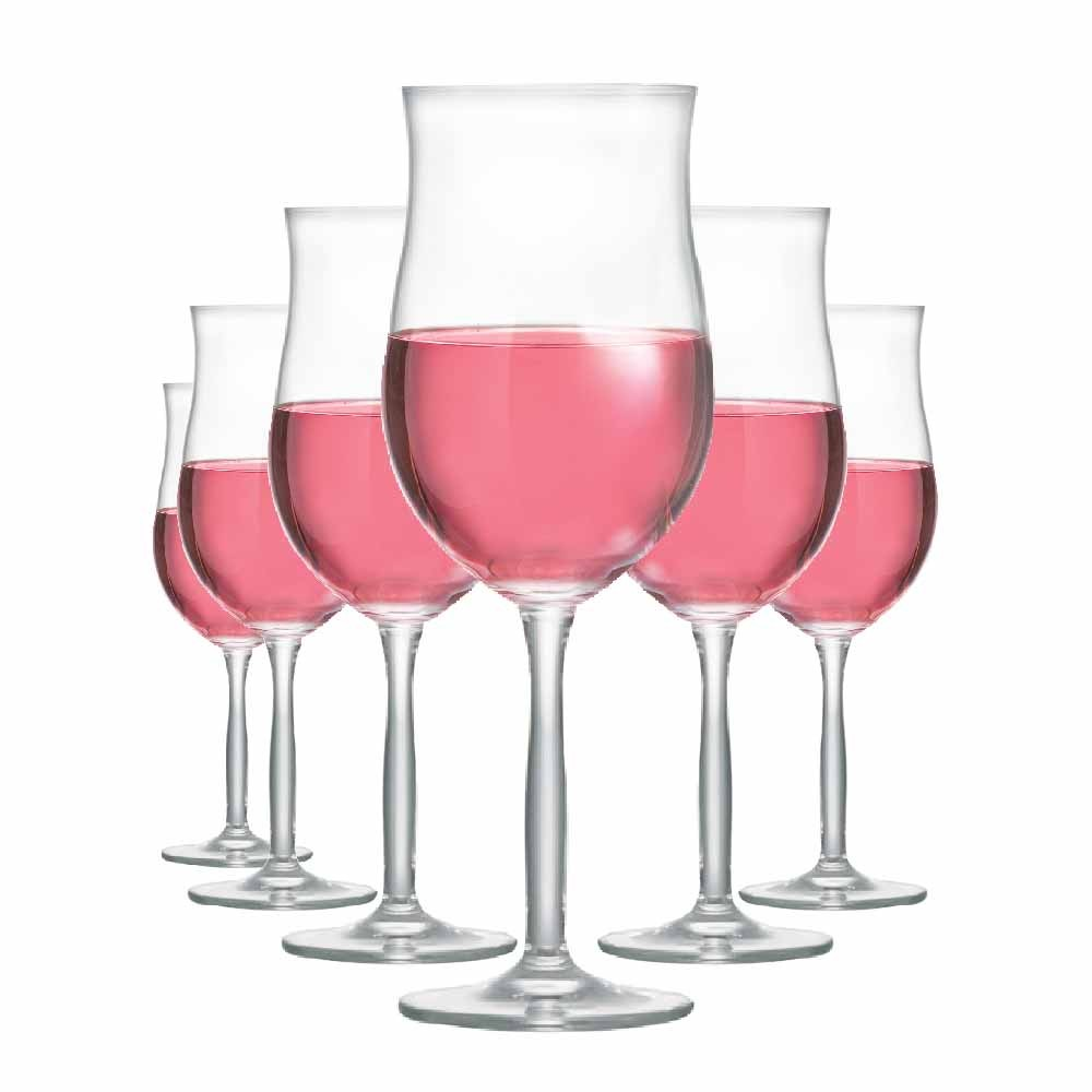 Taça de Vinho Rose de Cristal Bordeaux Rose 430ml 6 Pcs