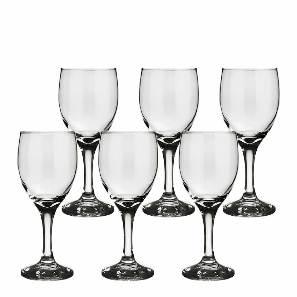 Jogo de Taças de Vinho Tinto América Água em Vidro 6 Pcs QE Ruvolo