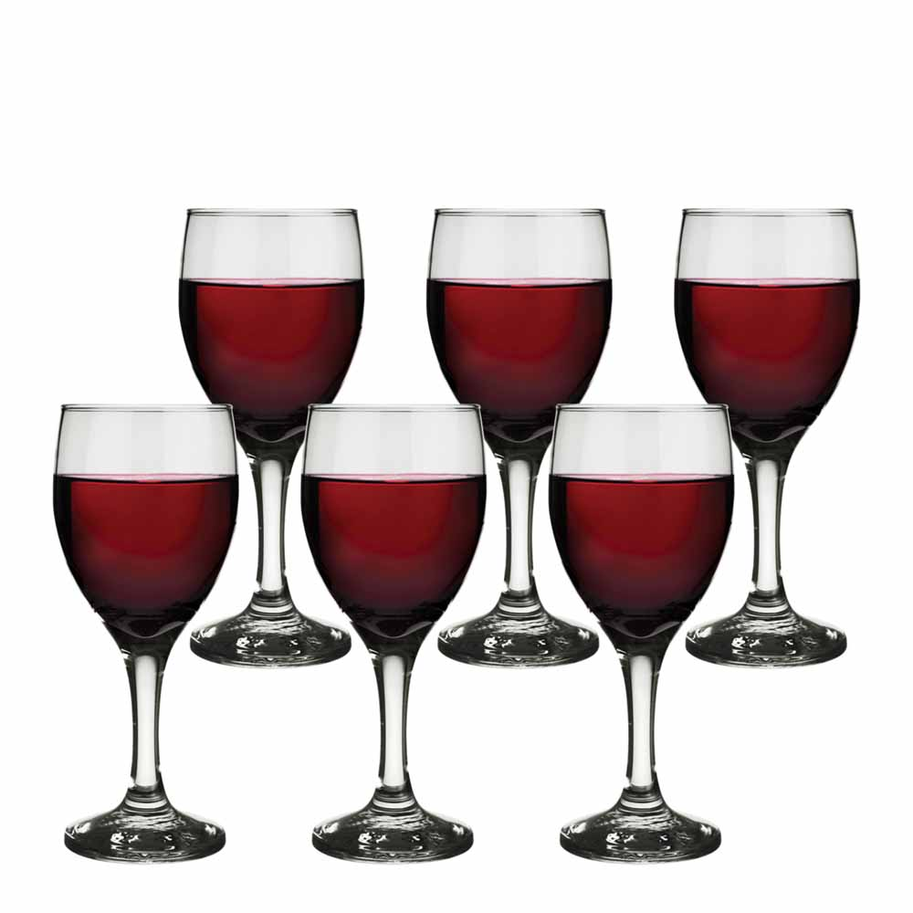 Jogo de Taças de Vinho Tinto América em Vidro 6 Pcs QE