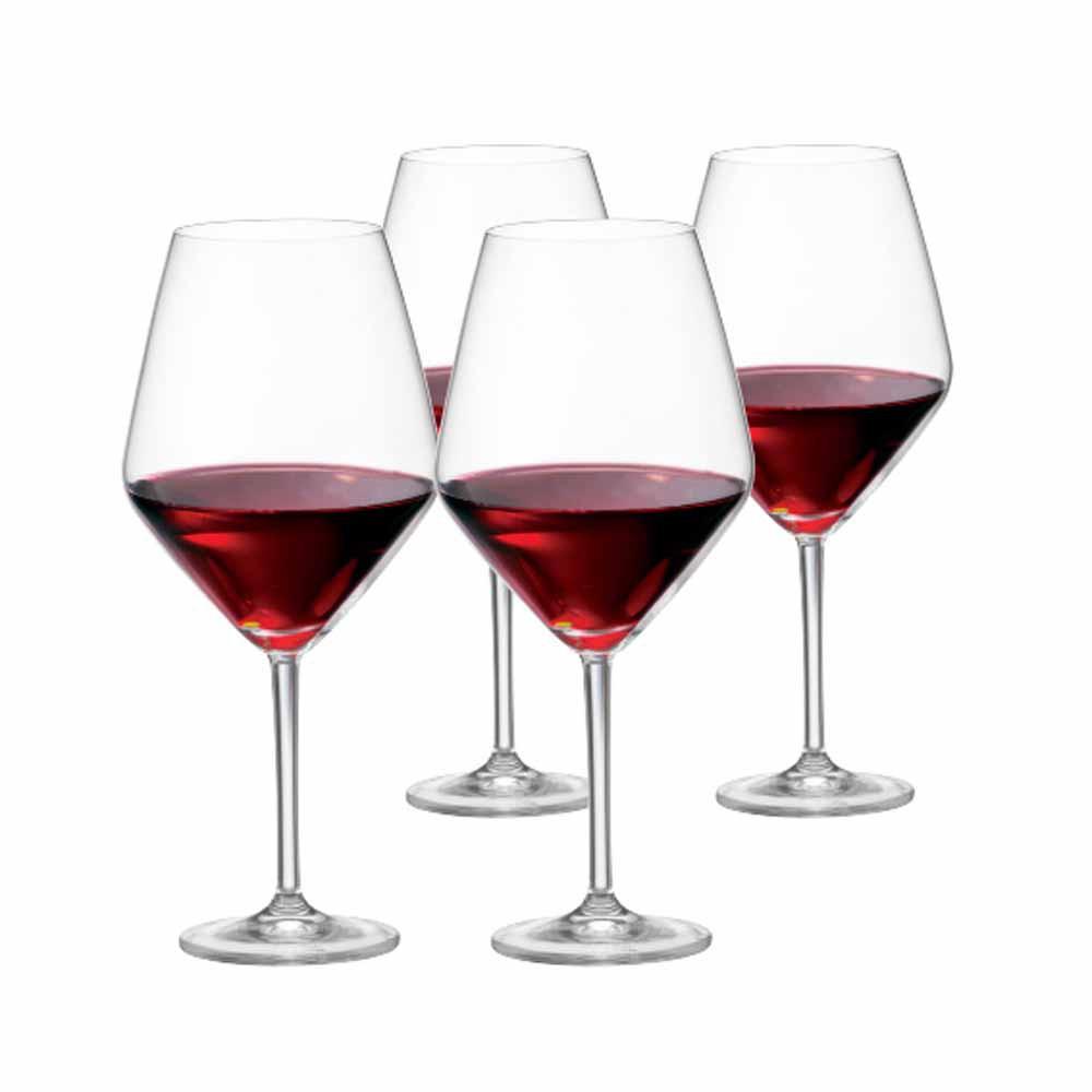 Jogo de Taças de Vinho Tinto Elegance Cristal 775ml 4 Pcs