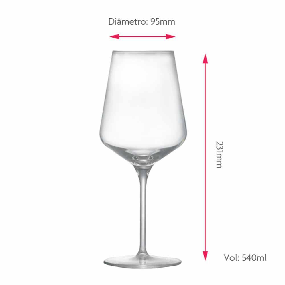 Taça de Vinho Tinto de Cristal assion 540ml 2 Pcs