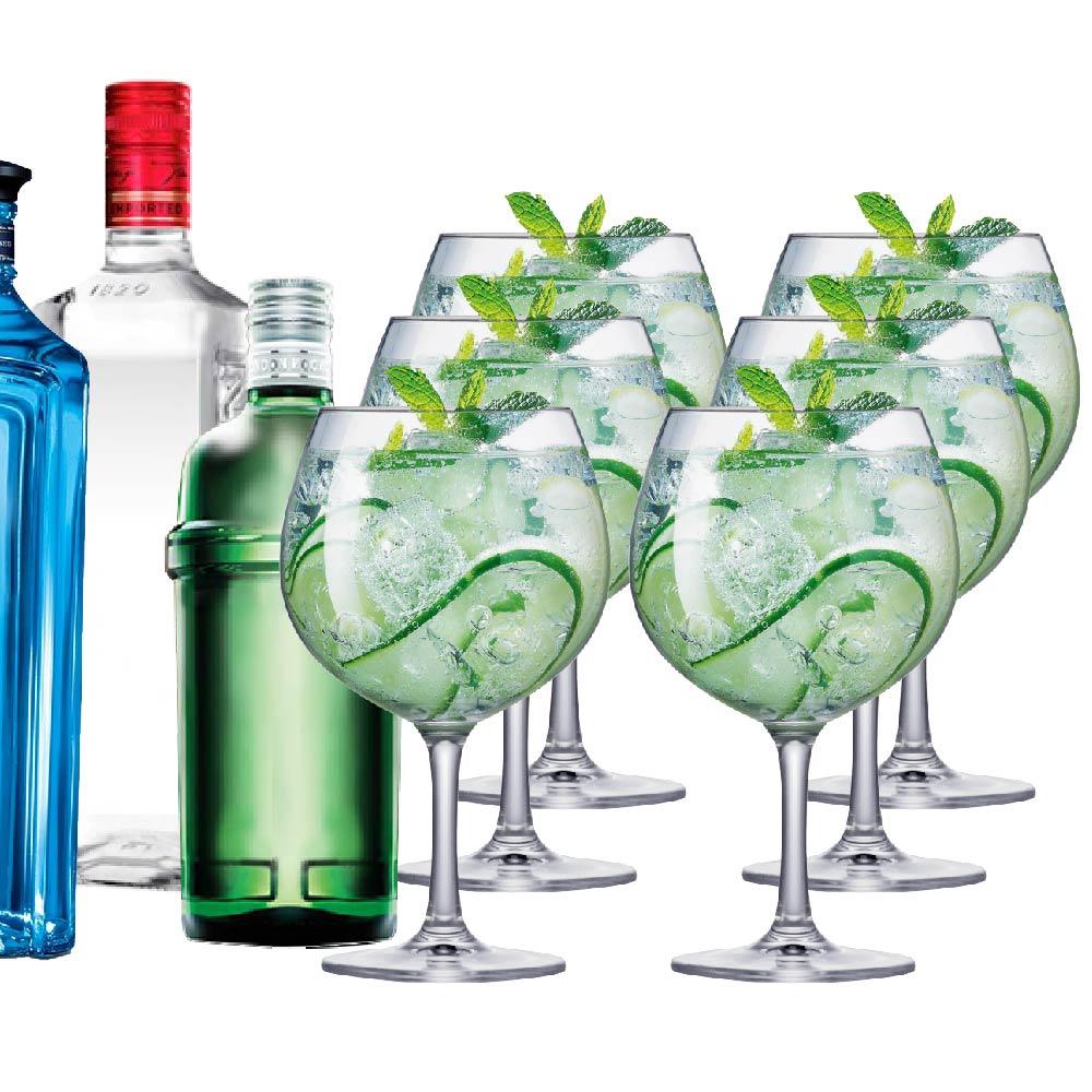 Taça de Gin Cristal Club 660ml 6 Pcs