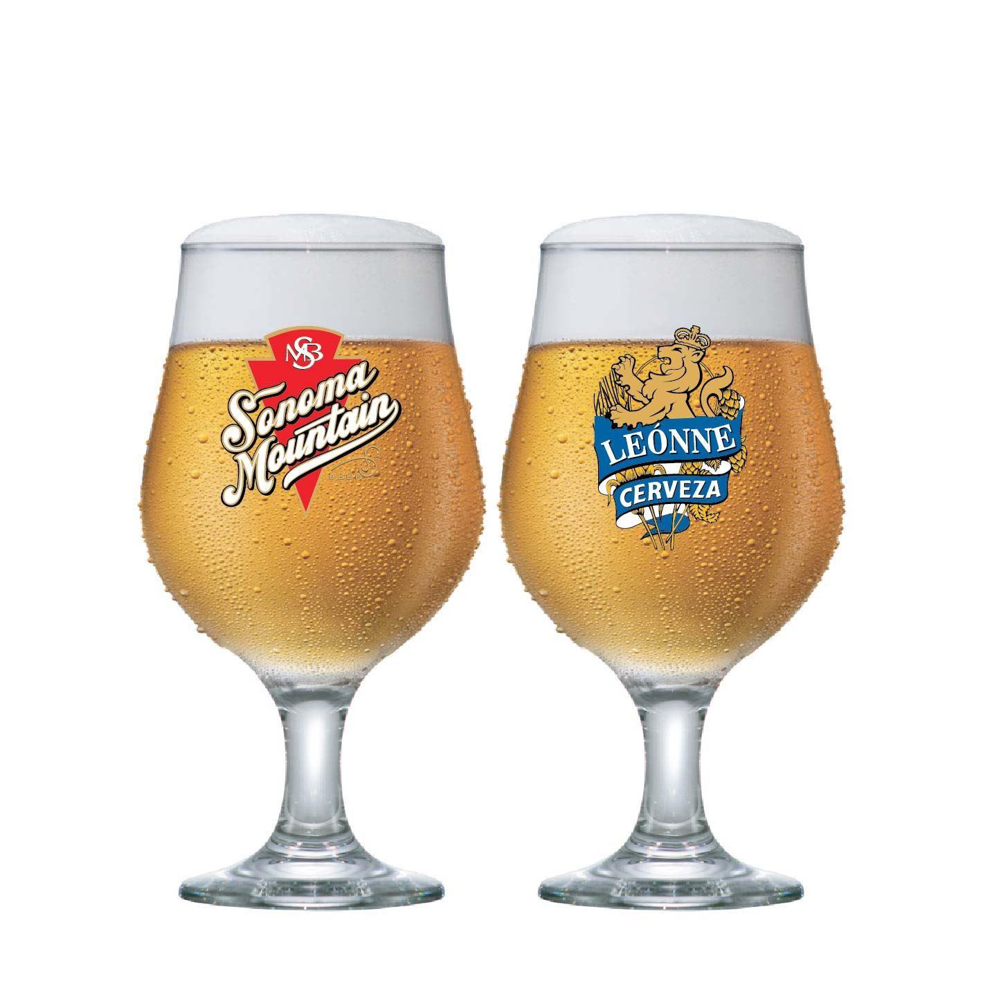 Jogo de Taças para Cerveja Frases Rótulo Belgica 380ml 2 Pcs