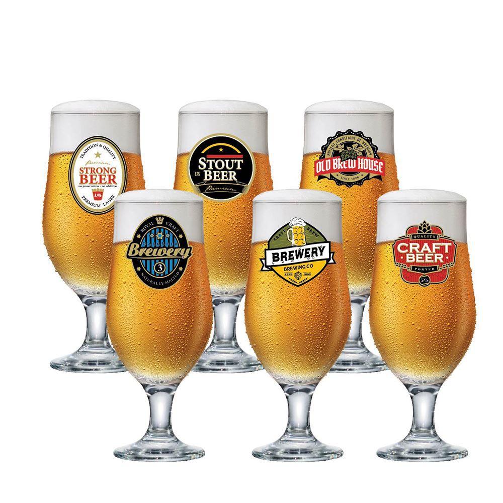 Jogo de Taças para Cerveja Rótulo Royal Beer 330ml 6 Pcs