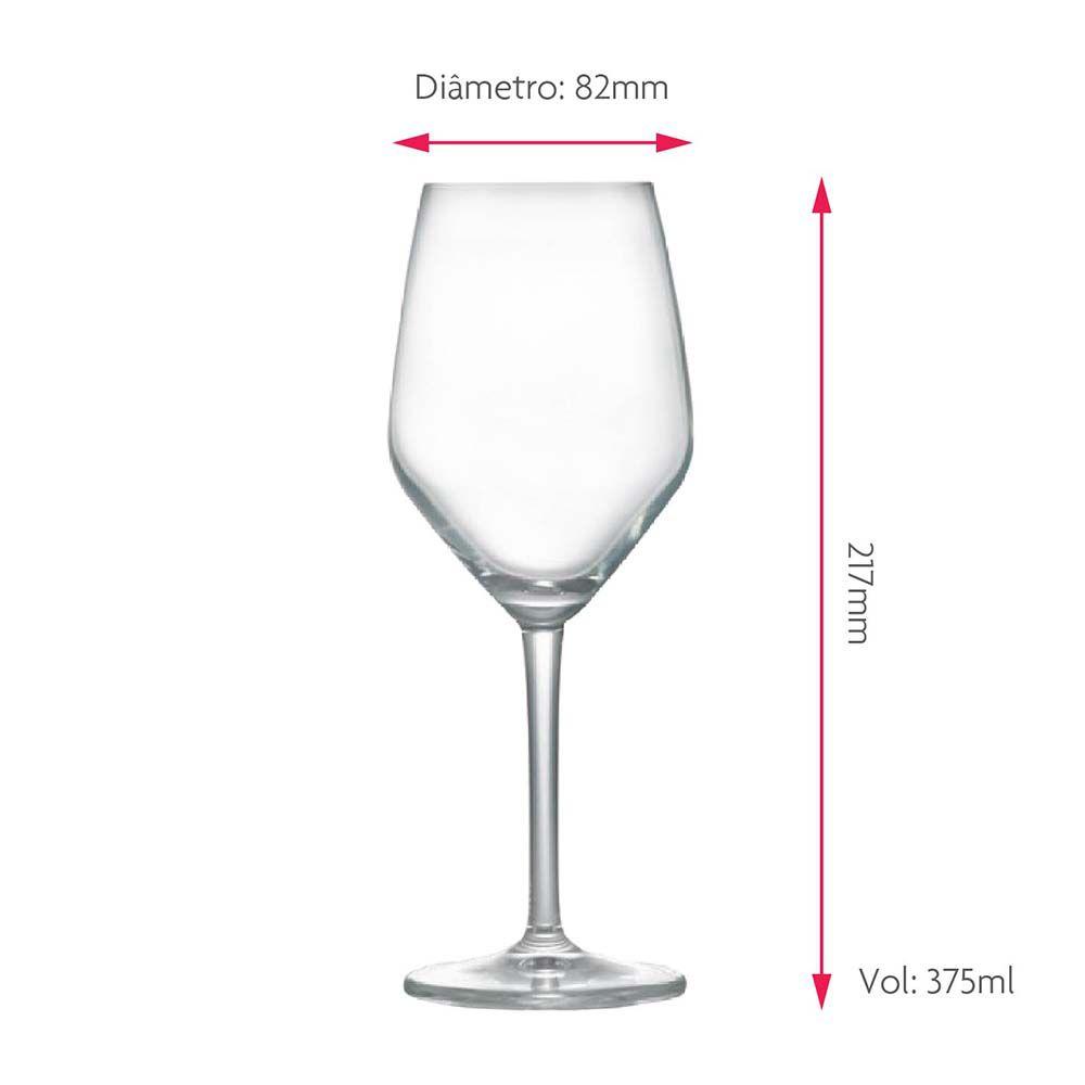 Jogo de Taças para Vinho Branco Elegance Cristal 375ml 2 Pcs