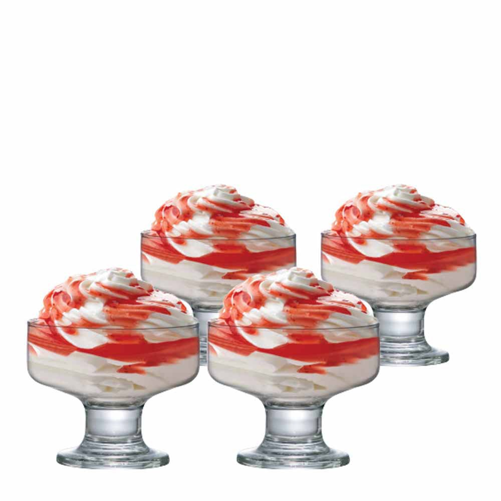 Jogo de Taças Sobremesa Curaçao Vidro 260ml 4 Pcs